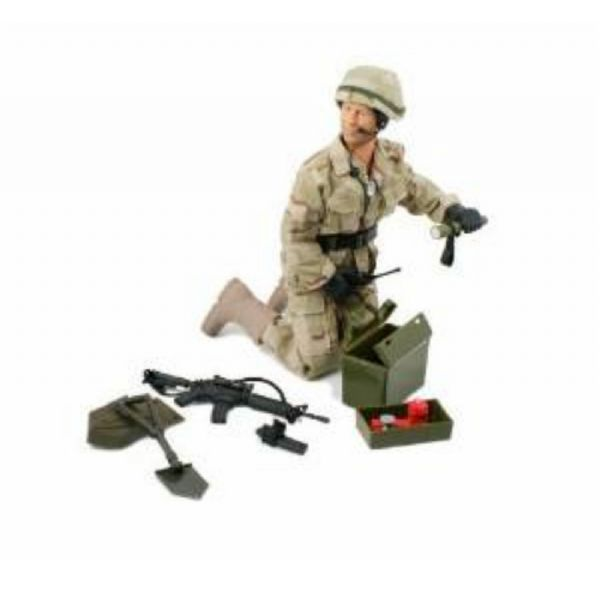 World Peacekeepers 12in Poseable Army Action Figure E.O.D Technician 3+Yr